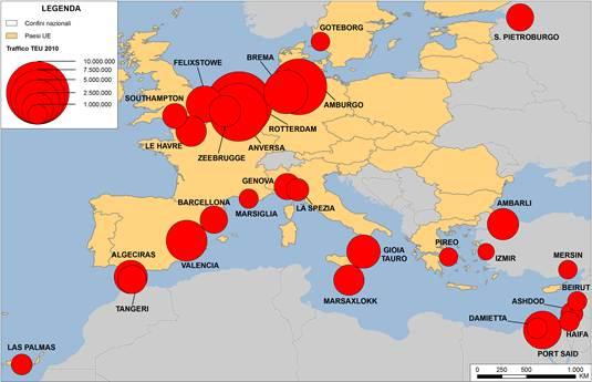 I flussi globali di container: la recente evoluzione della geografia portuale mediterranea e italiana