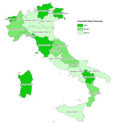 Benchmarking della green economy delle regioni italiane