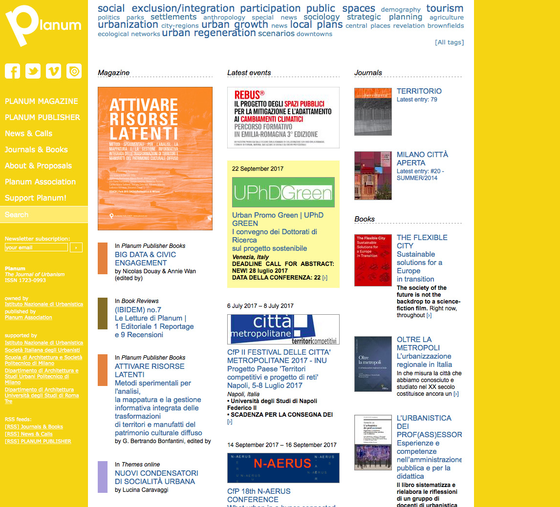 Planum: sperimentare contenuti e linguaggi sull'urbanism contemporaneo