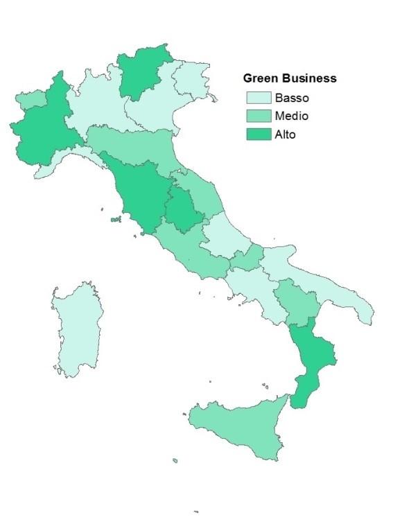 Green economy delle regioni italiane: 2012 – 2017